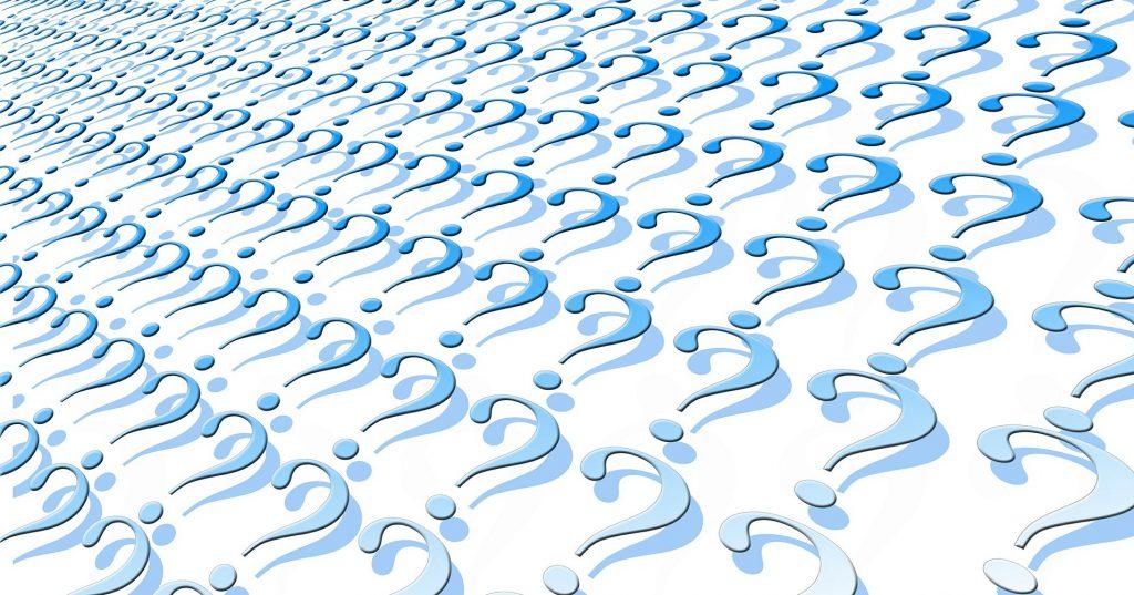 Eine Ansammlung von Fragezeichen, die die im Beitrag beschriebene Erkenntnisproblematik symbolisiert