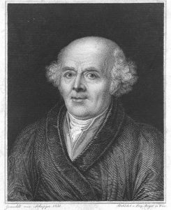 Portrait of Samuel Hahnemann, inventor of homeopathiy