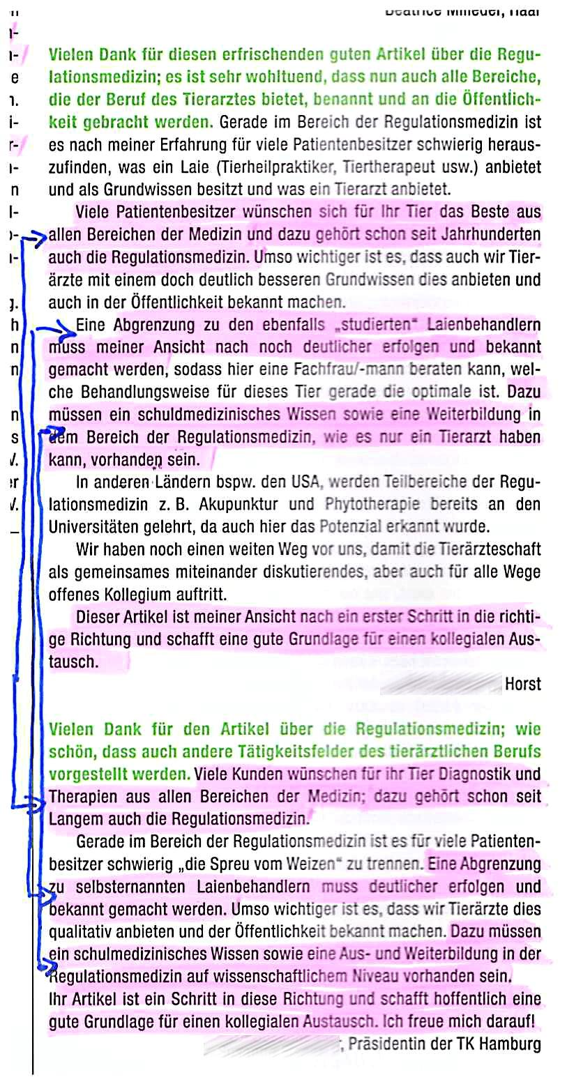Das Deutsche Tierärzteblatt und die Homöopathie